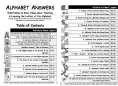 EVERYTHING TO KNOW (NOW) ABOUT TEACHING & LEARNING THE LETTERS OF THE ALPHABET  At many proficiency levels these 26 ideas A to Z will add variety motivation energy cooperation and competition to the language classroom tutoring situation learning group and/or individual study. Each section includes reproducible classroom-ready materials and website referrals. http://bit.ly/2gHPz0r #alphabet #teaching #adulted #principal #educators #edtech #instructors