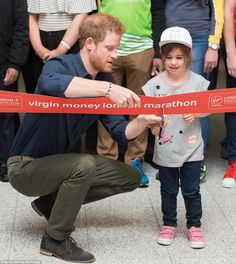 The prince picked Melissa out of the crowd to help him cut the ribbon to launch the Expo...