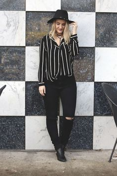 Black & White outfit | Breezy and Brazen style
