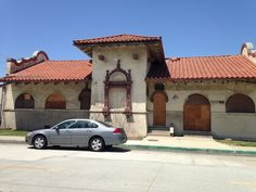 Southern Pacific Railroad depot, built 1907. originally on Broadway near the Long Beach Civic Center, moved in 1930s to 1475 San Francisco Avenue.