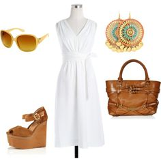 classic day at the beach, created by melissaerin on Polyvore