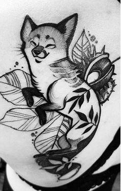 Such a cute little guy! Fuki Fukari Fox tattoo