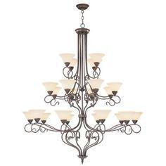 Livex Lighting 6189 Coronado 22 Light 3 Tier Chandelier