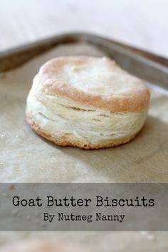 Goat Butter Biscuits @Nutmeg Nanny