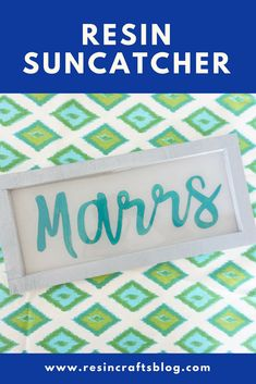 Looking for a great wedding or bridal shower gift idea? Make a resin name sign for the soon-to-be married couple that features their new, shared last name! Diy Resin Projects, Cool Diy Projects, Resin Crafts, Resin Art, Handmade Home Decor, Diy Home Decor, Fun Projects For Kids, Color Crafts, Name Signs
