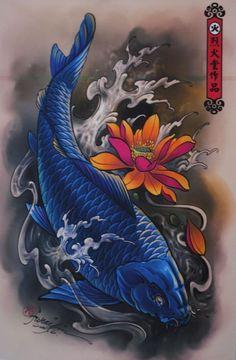 50 Koi Fish Tattoo Designs For Men - Japanese Symbol Of Masculinity Neue Tattoos, Body Art Tattoos, Tattoo Drawings, Sleeve Tattoos, Top Tattoos, Pez Koi Tattoo, Carp Tattoo, Japanese Tattoo Designs, Japanese Tattoo Art