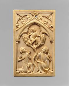 Cover of a Writing Tablet, ivory, made in Paris, Île-de-France, France, circa 1325-50