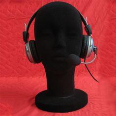 New Arrival 1PC Black Wig Head Stand Female Styrofoam Foam Flocking Head Model Wig Glasses Display Stand Pretty High Quality