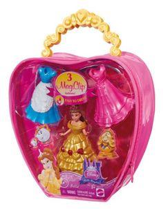 Disney Princess Fairytale MagiClip Belle Fashion Bag by Mattel. Princess Fairytale, Disney Princess Dolls, Princess Toys, Disney Dolls, Princess Anna, Barbie Sets, Barbie Dolls, Clip Dolls, Mattel Shop
