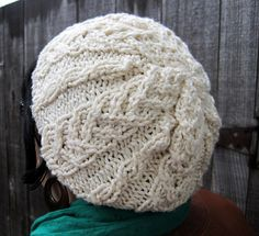 How cool is this hat, and the pattern is free! twistedBurl Slouchy Hat – Free Pattern | j.erin Knits