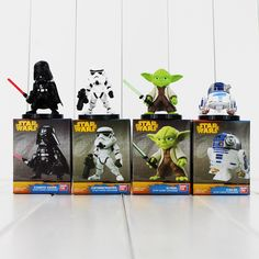 4pcs/lot Star Wars Darth Vader Yoda R2-D2 Robot Stormtrooper Collectible Action Figures PVC Collection Toys Great Christmas Gift #Affiliate