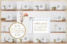 Value Pack Bundle: 12 Square Mockups by WeLivedHappilyEverAfter on @creativemarket
