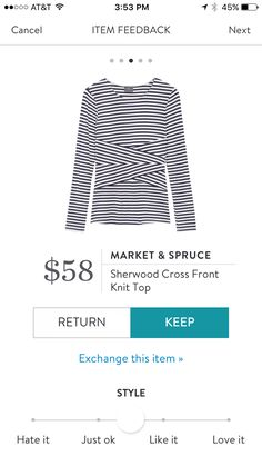 I like the crossed pattern of this top. I feel like it would be very flattering in my mid section