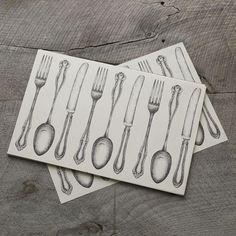 Kitchen Paper Placemats