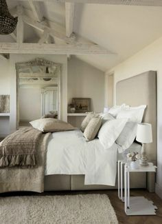 Natuurlijke basis kleuren voor een slaapkamer. Door annemike