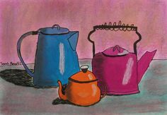 SARAH MENZA 4TH GRADE STILL LIFE ART LESSON FALL 08