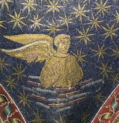 Mausoleum of Galla Placidia - Ravenna, Italy, Matthew the Evangelist, first half of the V century. #mosaic