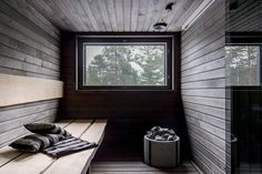 Sauna for the cottage Interior Trim, Interior Design, Sauna Wellness, Thinking Chair, Portable Sauna, Sauna Design, Finnish Sauna, Sauna Room, Spa Rooms