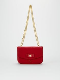 Ted Baker Daissy Bow Mini Shoulder Bag - Red   littlewoodsireland.ie B Cup, Double Chain, High Leg Boots, Rib Cage, Long Toes, You Bag, Scarlet, Ted Baker, Calves