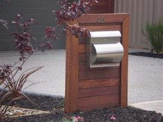 Some Practical Ideas for Designing Your Own Landscape Contemporary Landscape, Contemporary Design, Landscape Design, Wooden Mailbox, Wooden Fence, House Letters, Wood Letters, Mailbox Landscaping, Garden Landscaping