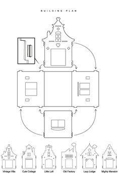 Meer foto's van dit model for cardboard house design Cardboard Cat House, Cardboard Toys, Paper Toys, Box Houses, Putz Houses, Paper Houses, Cat Crafts, Diy And Crafts, Cat Mansion