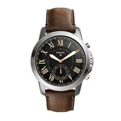 Fossil Hybrid Smartwatch  Q Grant Dark Brown Leather FTW1156 *** For more information, visit image link. Note: It's an affiliate link to Amazon #watchesforme