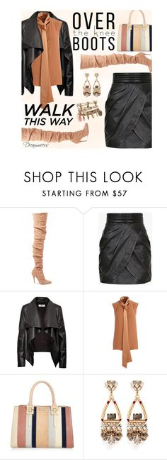 """Over the Knee Boots"" by dreamweevs ❤ liked on Polyvore featuring Balmain, HIDE, ADAM, River Island and Anton Heunis"
