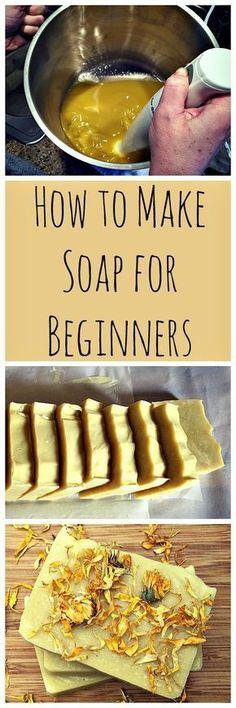 Homemade Calendula Soap: A recipe and guide for beginners.