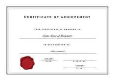 Free Printable Certificate Of Achievement Template (7) - TEMPLATES EXAMPLE | TEMPLATES EXAMPLE