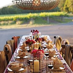 Dinner among the vines.