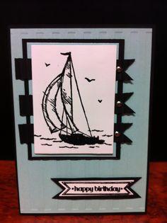 Stampin Up Men/boys birthday card