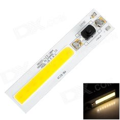 4W 350lm 3500K 8-LED Warm White Light Module - White + Black. Brand N/A Model N/A Material Aluminum alloy + silicone Color White + black colour system Quantity 1 Voltage 12~13 V Product size 100 x 24 x 12mm Bulb interface Soldering Power 4W Keywords Brightness: 330~350lm; Light color: Warm white; Chipset quantities: 8-LED; Uses Taiwan's Epileds chipset; Beam angles: 120'C; Working temperature: 50,000 hours; Great for DIY lighting use. Packing List 1 x LED module. Tags: #Lights #Lighting…