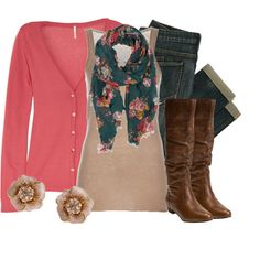 """Pink & Teal"" by qtpiekelso on Polyvore"