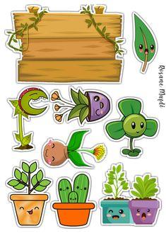 Kawaii Doodles, Cute Kawaii Drawings, Cactus Vector, Shrink Art, Decoupage Vintage, Punch Art, Birthday Cake Toppers, Diy Cards, Paper Art
