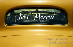 Just Married Wedding Car Decal Decoration by bushcreative on Etsy
