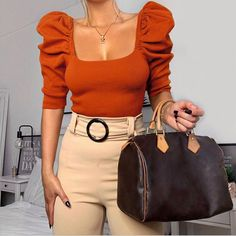 Blouses For Women, Sweaters For Women, T Shirts For Women, Top Soirée, Summer Crop Tops, Spring Shirts, Short Tops, Look Fashion, Club Fashion