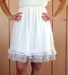 Soft CREAM gathered lace. (picture is slightly lighter than true color) Also available in white.. $28.00, via Etsy.