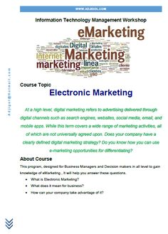 Electronic marketing course outlook