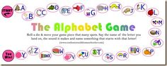 Great Alphabet idea, could do just the letter name, sound, or the word.