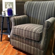 We're perfectly content in our cozy little corner.  August is also a great month to add this accent chair or maybe a new sofa to your home because you'll receive 30% off any upholstery order. ••••••••••••••••••••••••••••••••••••••••••••••••••••• #cfhome #