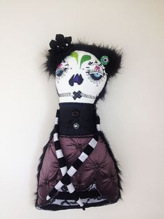 Catrina Muerta-art doll plush- By Jen Musatto