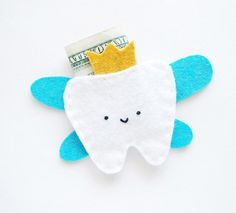 Tooth Fairy Pouch made of felt