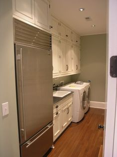 Extra refrigerator in laundry room?