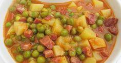 Guisantes guisados Tradicional, guisantes con tradicional, verduras tradicional, recetas de dieta tradicional,