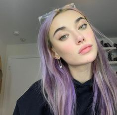 Image about hair in immortal by tammy on We Heart It Twist Hairstyles, Summer Hairstyles, Cool Hairstyles, Scene Hairstyles, Tumbr Girl, Hair Color Streaks, Lilac Hair, Light Purple Hair Dye, Lavender Hair