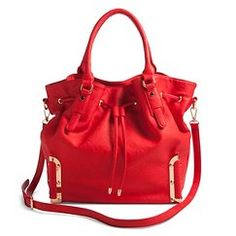 Women's Solid Tote Handbag with Drawstring Closure