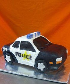 cop car cake. Grooms cake