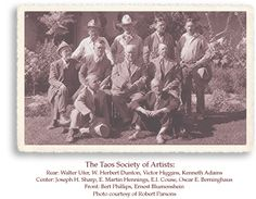 The Taos Society of Artists Founders photo, 1915