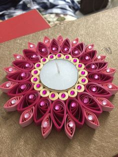 My creation- Quilled t lights