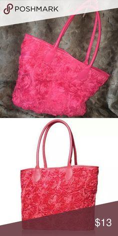 Avon rosette tote bag hot pink new Avon rosette tote bag hot pink new Avon Bags Totes